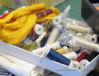 Goldwork Thread Organization
