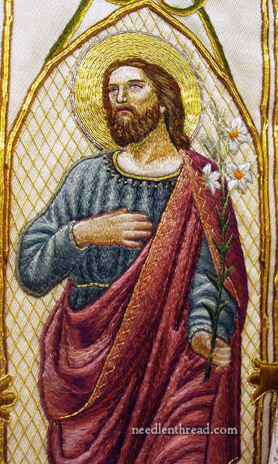 St. Joseph Embroidery silk & goldwork