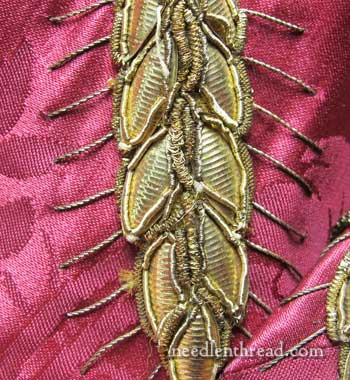 Goldwork Embroidery: Wheat