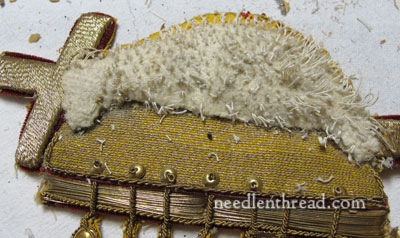 Goldwork Ecclesiastical Embroidery - Agnus Dei - construction