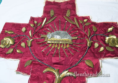 Goldwork Embroidery - Leaves
