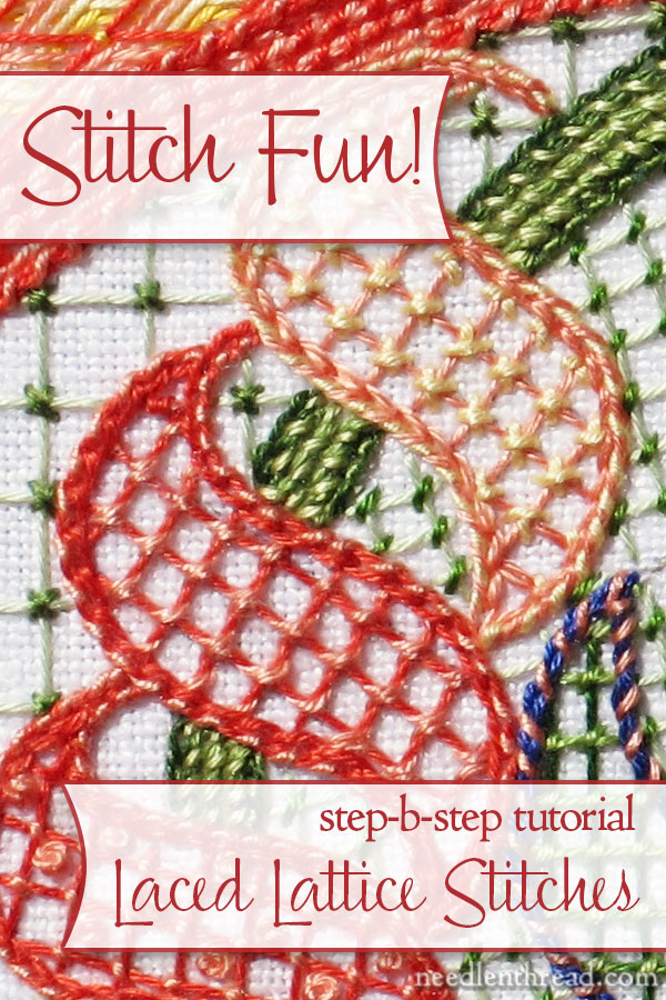 Laced Lattice Stitches Tutorial