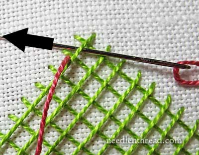 Laced Lattice Stitch Tutorial