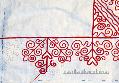 Hungarian Redwork Embroidery - Table Runner