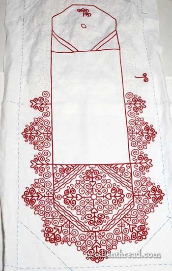 Hungarian Redwork Runner Embroidery Project