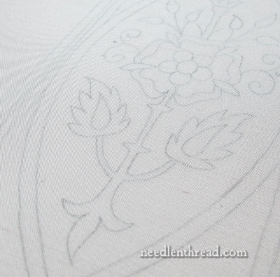 Mission Rose Embroidery Project: Design Transfer and Framing Up