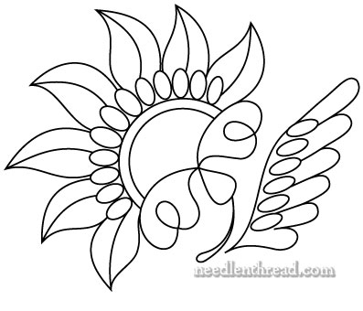 Free Hand Embroidery Pattern - Stylized Flower Inspired by Lace