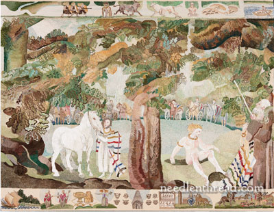 The Ros Tapestry - Panel 1, the Celts