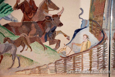 The Ros Tapestry - Abduction of Dervogilla Detail