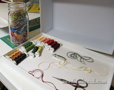 Working with Soie de Paris & other filament embroidery silk