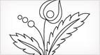 Folk Flowers Embroidery Pattern