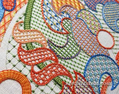 Lattice Stitch Embroidery Sampler