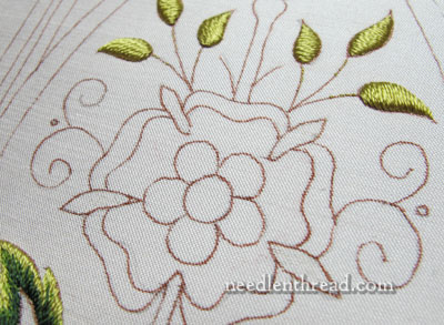 Mission Rose Embroidery Project in Silk & Goldwork