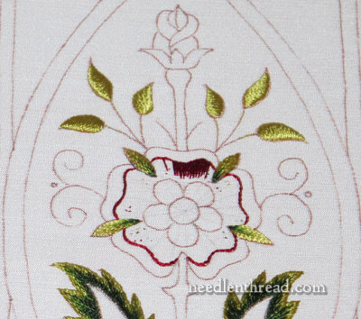 Mission Rose Silk & Gold Embroidery Project