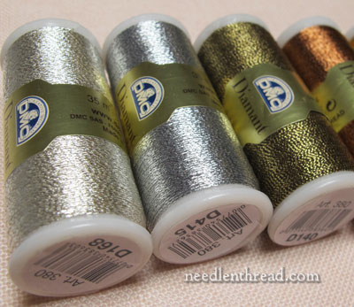 DMC Diamant metallic embroidery threads