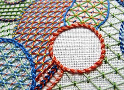 Lattice Embroidery Stitch Sampler