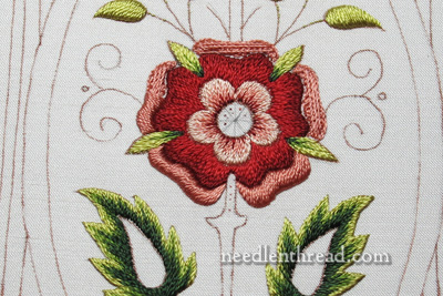 Mission Rose Silk Embroidery Satin Stitch