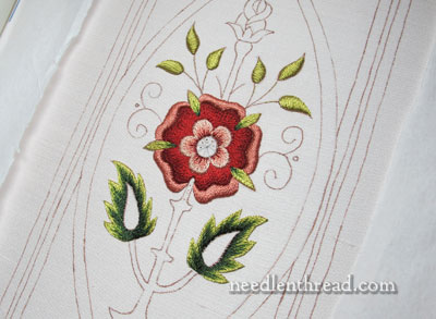 Mission Rose Satin Stitch in Silk