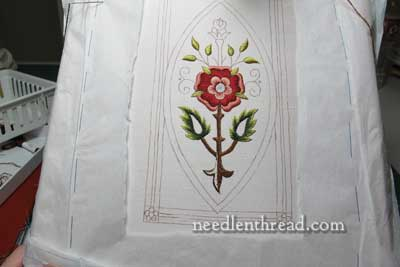 Mission Rose: Silk and Gold Embroidery