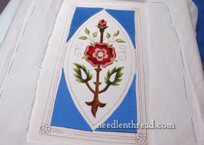 Mission Rose: Silk Applique for Goldwork Embroidery