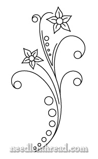 Free Hand Embroidery Pattern: Dots & Flowers