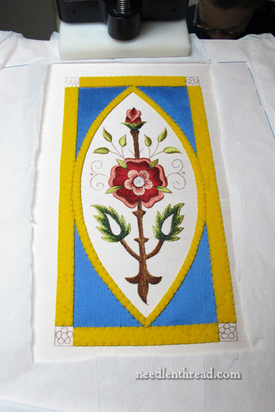 Felt Foundation for Goldwork Embroidery