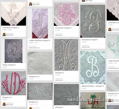 Monograms on Pinterest