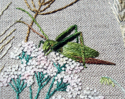 Embroidered Grasshopper