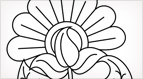Exuberant Flower Embroidery Pattern