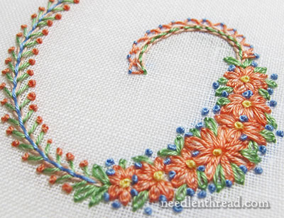 Mix and Match Embroidered Floral Monograms