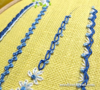 Knotted Chain Stitch or Braid Stitch Variation