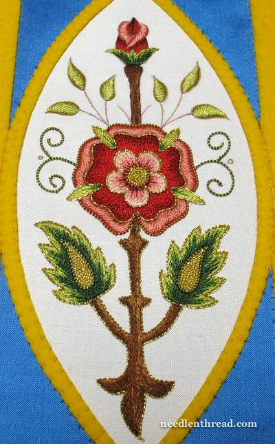 Mission Rose Embroidery Project in Goldwork and Silk Embroidery