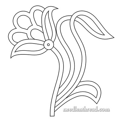 Free Hand Embroidery Pattern Openwork Flower Needlenthread