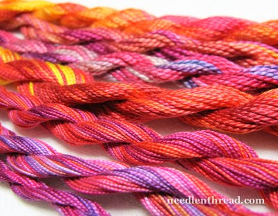 Overdyed Embroidery Thread