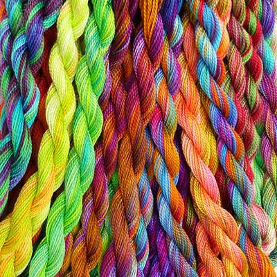 Overdyed Cotton Embroidery Threads