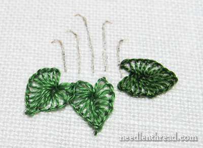 Buttonhole Stitch Leaves