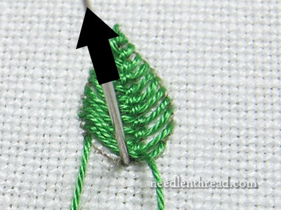 Cretan Stitch Filling for Embroidered Leaves