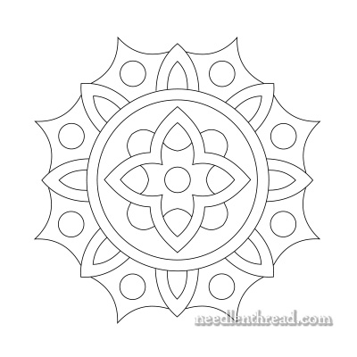 Funburst Hand Embroidery Pattern