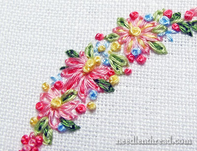 Tutorials For Hand Embroidered Leaves Flowers Needlenthread Com