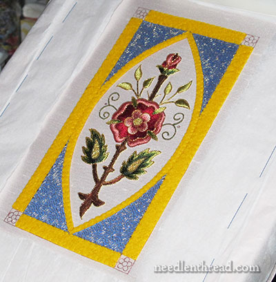 Mission Rose Goldwork & Silk Embroidery Project