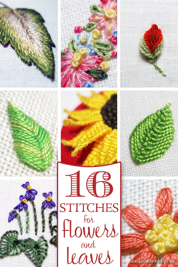 Stitches for Flowers and Leaves