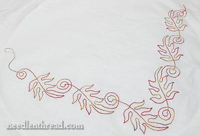 Tambour Embroidery Project - Autumn Leaves