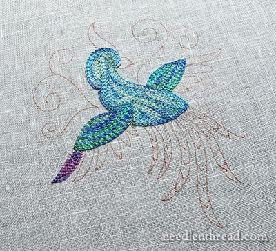 Bird of Paradise Tambour Embroidery Practice Project