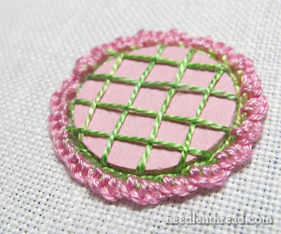 Shisha Mirror Embroidery Stitch: Easy Variation