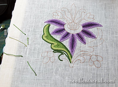 Tambour Embroidery: Practice Flower
