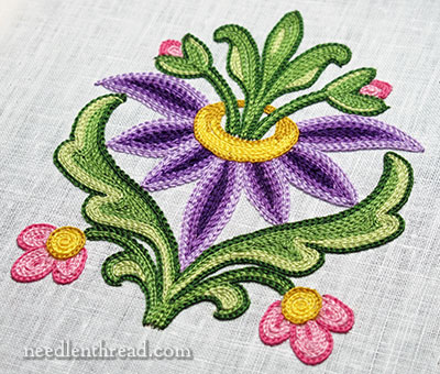 Tambour Embroidered Flower Finished U0026 Materials List U2013 NeedlenThread.com