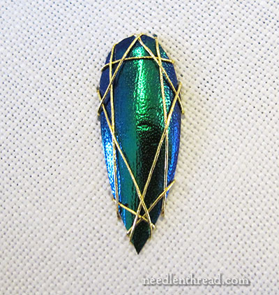 Shisha embroidery with beetle wings