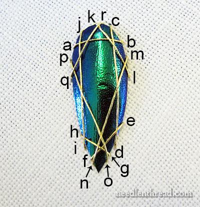 Shisha embroidery with beetle wings