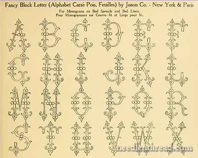 Janon Company Fine Hand Embroidery Monograms Free Online Resource