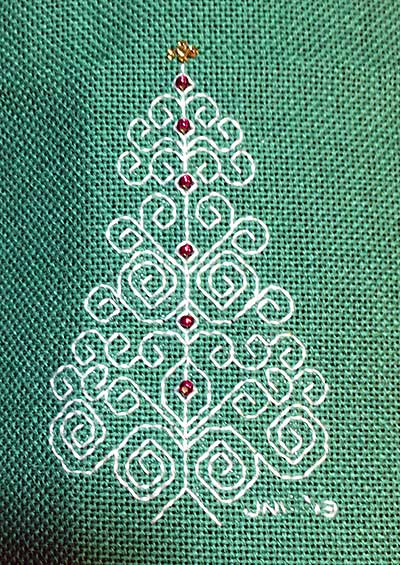 Blackwork Christmas Tree